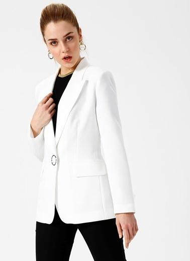 Random Ceket Beyaz